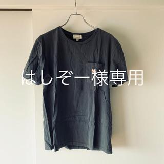MAISON KITSUNE' - (美品)Maison KITSUNE キツネ ポケットTシャツ 墨黒