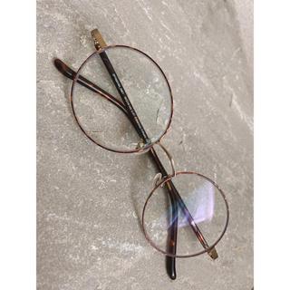 Zoff - Zoff べっこう 丸メガネ 紫外線カット 度なし