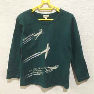 ハッシュアッシュ(HusHush)のハッシュアッシュ ロンT  グリーン 110cm(Tシャツ/カットソー)