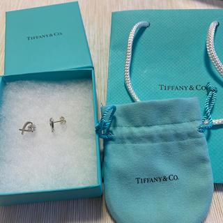 Tiffany & Co. - ティファニー ハート ピアス シルバー