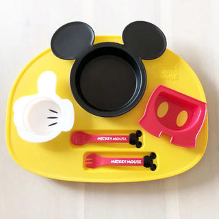 ディズニー(Disney)のミッキーマウス ランチプレート(離乳食器セット)