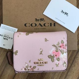 COACH - 新品!コーチ 三つ折り財布 フラワー フローラル 花柄