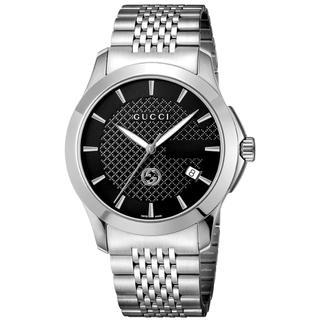 グッチ(Gucci)の【新品未使用】GUCCIグッチ 腕時計 ブラック文字盤 メンズ(腕時計(デジタル))