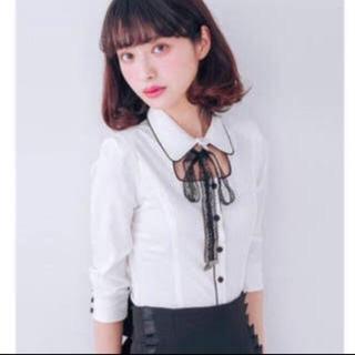 イートミー(EATME)のEATME パイピングシャツ ホワイト(Tシャツ(長袖/七分))