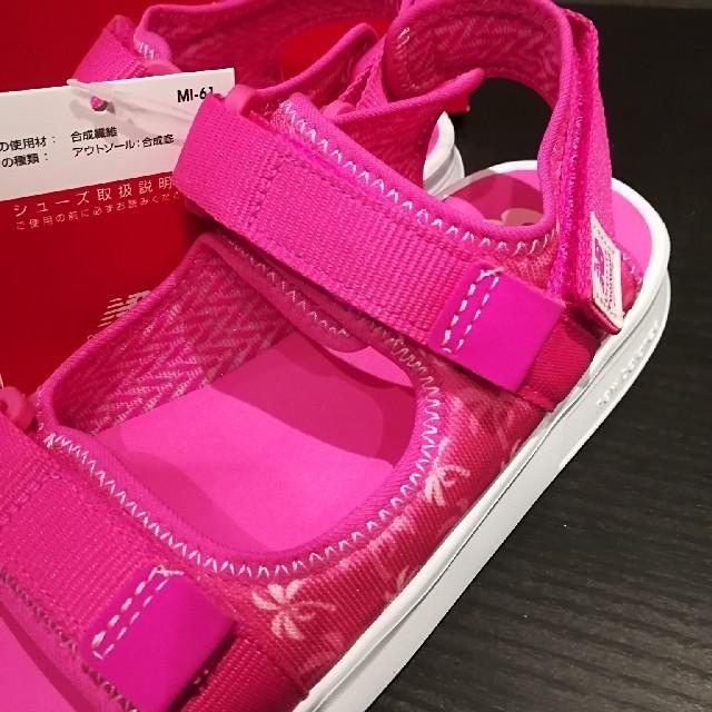 New Balance(ニューバランス)の新品箱付き✩.*˚20センチ ニューバランスキッズサンダル ピンク キッズ/ベビー/マタニティのキッズ靴/シューズ(15cm~)(サンダル)の商品写真
