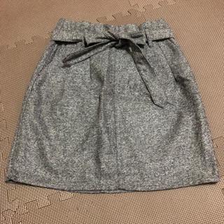 ヘザー(heather)のHeather ヘザー タイトスカート リボンベルト付き ミニスカート (ミニスカート)