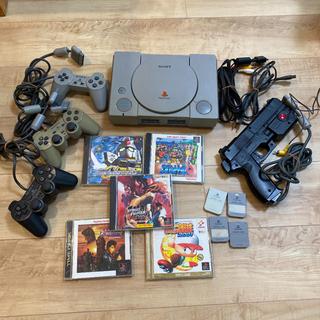 プレイステーション(PlayStation)の初代プレステ 本体 ソフト セット 中古(家庭用ゲーム機本体)