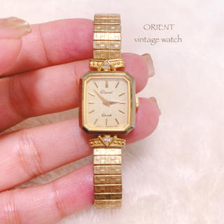 ORIENT - 【ORIENT】ヴィンテージ腕時計 ゴムバンド 美品 稼働品 vintage