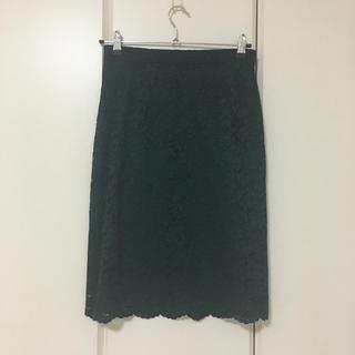 プラステ(PLST)のプラステ グリーンレーススカート(ひざ丈スカート)