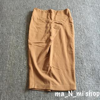アナップ(ANAP)のANAP ベージュ タイトスカート(ひざ丈スカート)