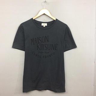 MAISON KITSUNE' - メゾンキツネ MAISON KITSUNE 半袖 Tシャツ 丸首 グレー メンズ