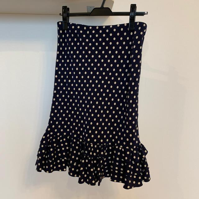 Ralph Lauren(ラルフローレン)のRalph Lauren ネイビードット フリルスカート レディースのスカート(ひざ丈スカート)の商品写真