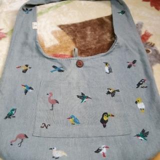 イッツデモ(ITS'DEMO)のSALE❗小鳥の大きめバッグ インコトートバッグ(トートバッグ)