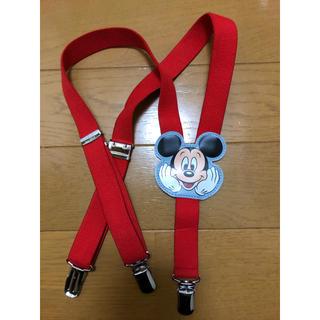 ディズニー(Disney)のミッキーサスペンダー 美品(ベルト)