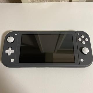 Nintendo Switch - Nintendo Switch Liteグレー 美品 本体と充電ケーブル