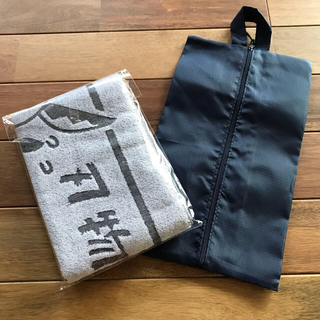 関シティマラソン2020の記念スポーツタオル&シューズ袋(その他)