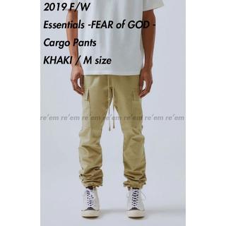 FEAR OF GOD - FOG ESSENTIALS 19FW Cargo Pants KHAKI M