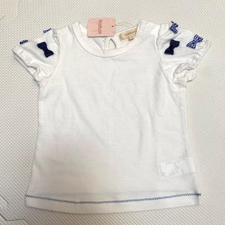 ハッシュアッシュ(HusHush)のハッシュアッシュ 80サイズ   肩リボン Tシャツ(Tシャツ)