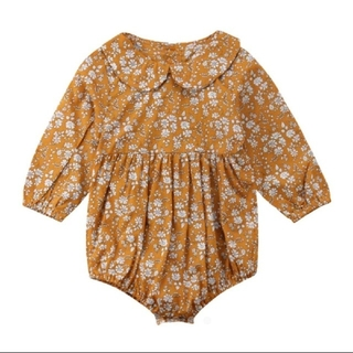 petit main - 新品!80cm♡かわいい花柄ロンパース✿長袖ロンパース✿韓国子供服