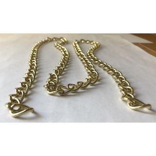 【チェーン №01(105㎝)】イエローゴールド ウォレットチェーン 鎖 (各種パーツ)