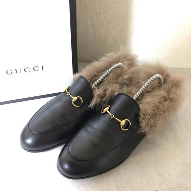 デイデイト時計偽物,Gucci-美品 GUCCIグッチ プリンスタウン ファー付きローファーの通販