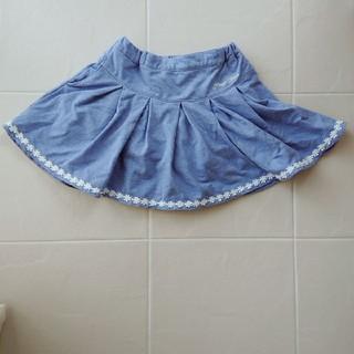mezzo piano - メゾピアノインナーパンツつきスカート140