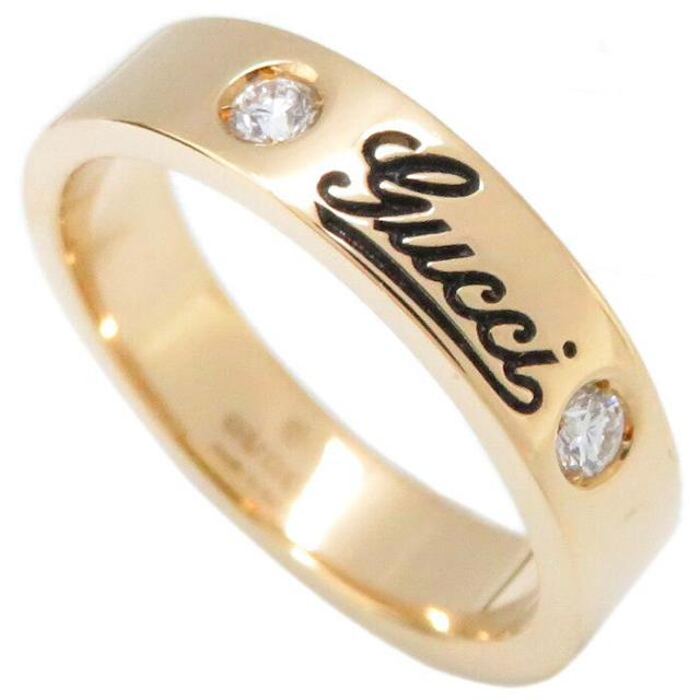時計 シャネル 白 スーパー コピー   Gucci - 【美品】グッチ GUCCI アイコンプリントリング 2Pダイヤ YG #8 指輪の通販