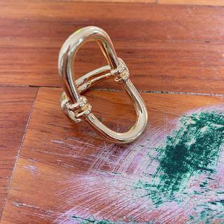 ルシェルブルー(LE CIEL BLEU)のゴールドサークルリング(リング(指輪))