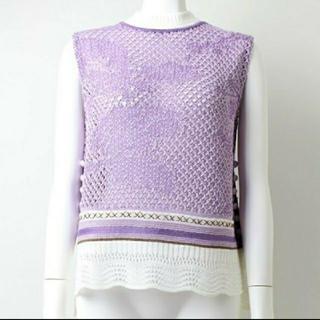 マメ(mame)の★am様専用★mame Sleeveless Scala Knit Tops(ニット/セーター)