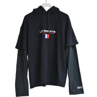 saintvêtement (saintv・tement) - VETEMENTS パーカー セーター XL ブラック