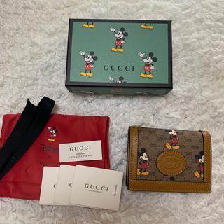 Gucci - GUCCI ミッキー 二つ折り財布
