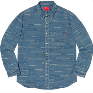 Supreme - SUPREME dimensions  logo Denim shirt L