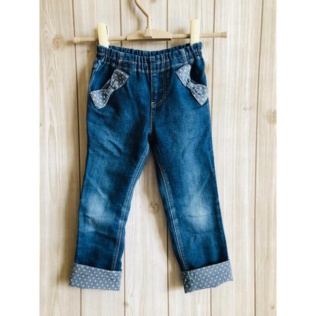 KP(ニットプランナー)のtrois lapins デニムパンツ キッズ/ベビー/マタニティのキッズ服女の子用(90cm~)(パンツ/スパッツ)の商品写真