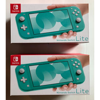 ニンテンドースイッチ(Nintendo Switch)のNintendo Switch  Lite ターコイズ 2台セット☆新品未使用☆(家庭用ゲーム機本体)