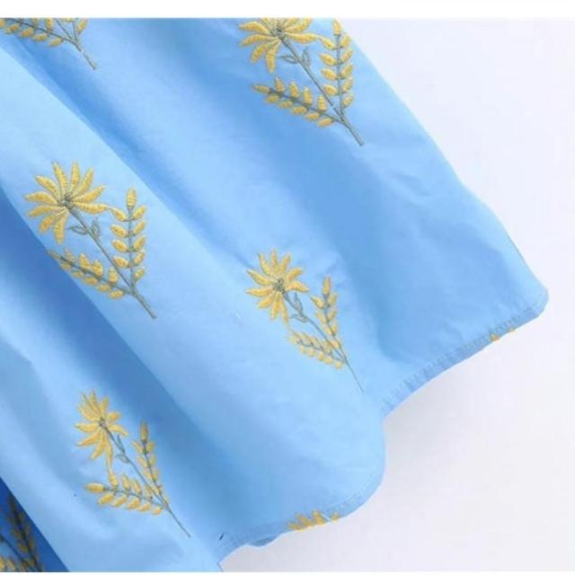 ZARA(ザラ)の【4size】花柄刺繍 ワンピース レディースのワンピース(ロングワンピース/マキシワンピース)の商品写真