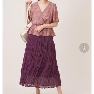 ナイスクラップ(NICE CLAUP)のギャザースカート 新品未使用(ロングスカート)