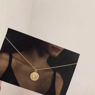 GYDA - インポート コイン シルバー925 ネックレス ゴールド色