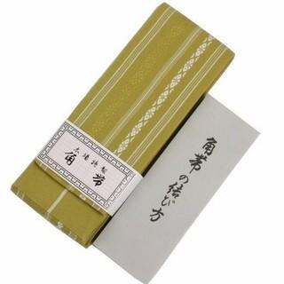 角帯献上柄 カラシ メンズ日本製綿100%結び方ガイド付き(浴衣帯)