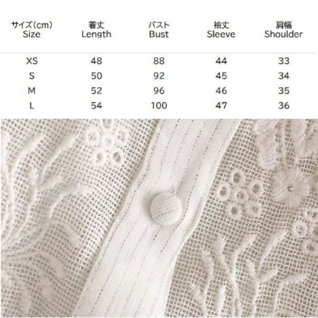 ZARA(ザラ)の【4size】花柄刺繍 パンチング ブラウス レディースのトップス(シャツ/ブラウス(長袖/七分))の商品写真
