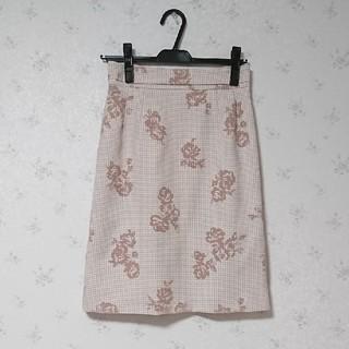 デビュードフィオレ(Debut de Fiore)の千鳥×花柄スカート(ミニスカート)