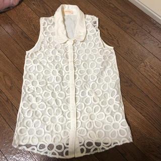 レピピアルマリオ(repipi armario)のレピピ  アルマリオ 花柄トップス XS size(Tシャツ/カットソー)