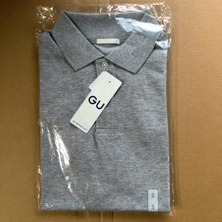 ジーユー(GU)のGU ドライ ポロシャツ MEN S 半袖 GRAY グレー 未開封(ポロシャツ)