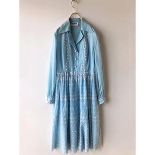Lochie - vintage US古着 コットン ドット刺繍 ワンピース ドレス ヴィンテージ