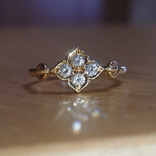 Cartier - カルティエ ヒンドゥ リング ダイヤ ダイヤモンド k18 フラワー