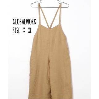 GLOBAL WORK - 120-130cm グローバルワーク リネン素材 キャミ サロペット パンツ