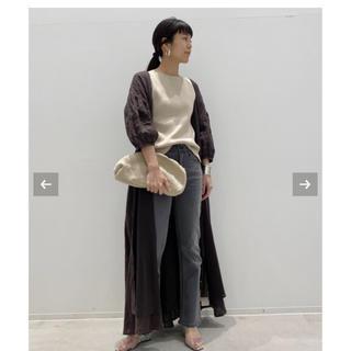 L'Appartement DEUXIEME CLASSE - アパルトモン Linen Madam Dress ブラウン