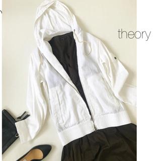 theory - ★セオリー★リネンレーヨンパーカー ブルゾン ジャケット