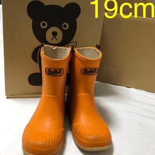ダブルビー(DOUBLE.B)のミキハウス ダブルB レインブーツ19cm  オレンジ長靴(長靴/レインシューズ)