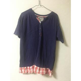 CUBE SUGAR - キューブシュガー Tシャツ チュニック丈やや短め 紫 Mサイズ