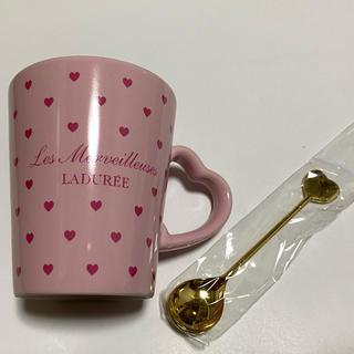 ラデュレ(LADUREE)の【新品】レ・メルヴェイユーズ ラデュレ マグカップ&スプーン(グラス/カップ)
